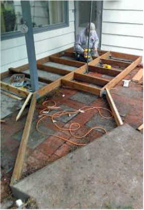 Ramp construction by West Coast Restoration