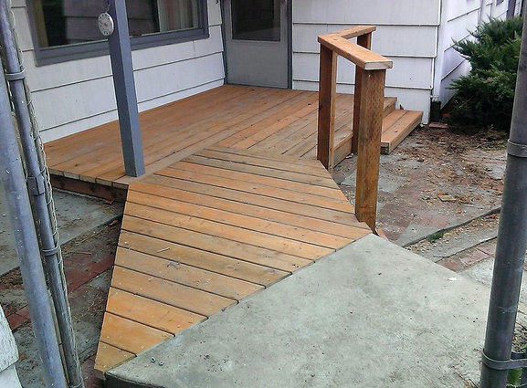 Ramp built for home by West Coast Restoration